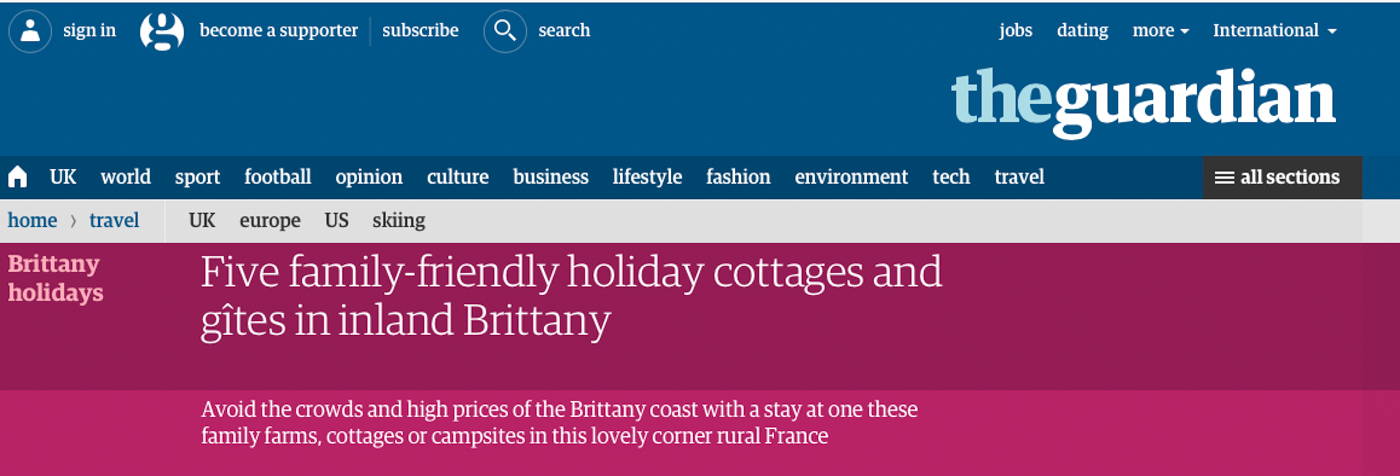 Frenchberry In the Guardian